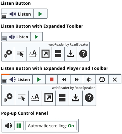ReadSpeaker buttons